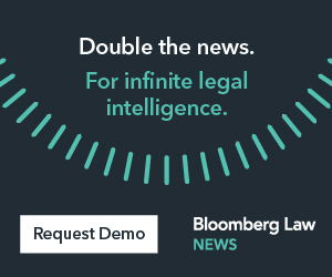 Double the news. For infinite legal intelligence. Bloomberg Law News.