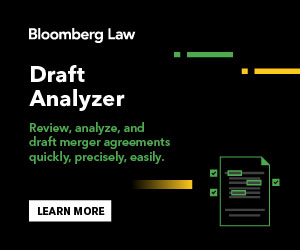 Draft Analyzer - Review, analyze, and draft merger agreements, quickly, precisely, easily.